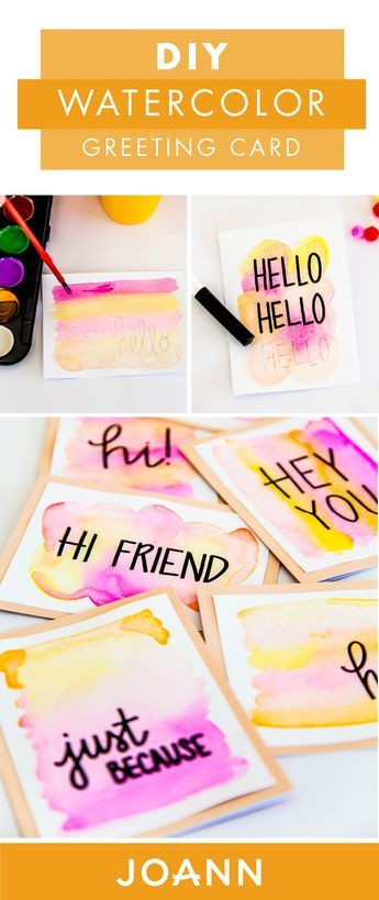 Birthday Cards Thank You Notes You Name It These Diy Watercolor