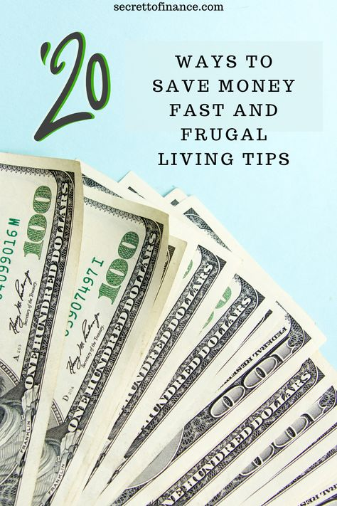 20 Ways To Save Money Fast And Frugal Living Tips