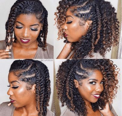 Natural Curly Twist Hairstyles Name