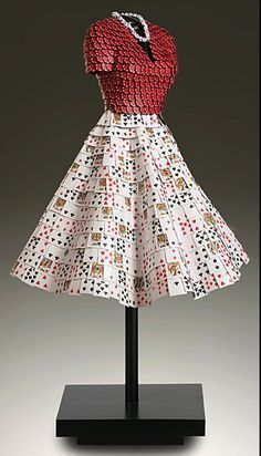 Poker chip and plastic playing card dress - Repurposed Fashion