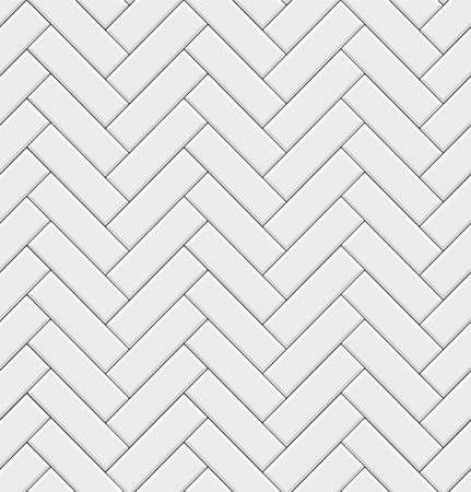 herringbone white tile