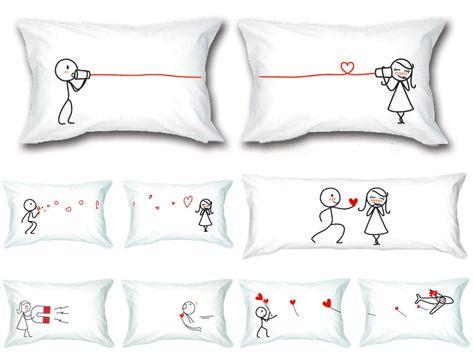 Federe Cuscini Romantiche.Federe Cuscini Letto Personalizzate Casamia Idea Di Immagine