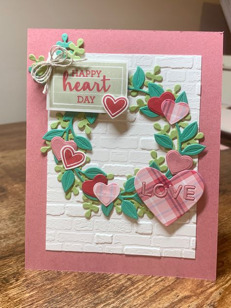 Your love makes me stronger valentines day card with layered hearts and vellum