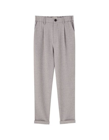 Basic Tailored Pants With Darts Pull Bear