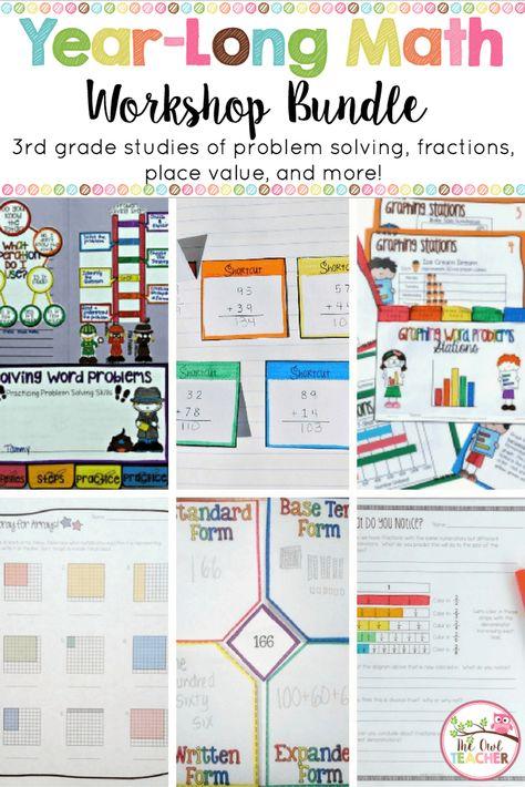 3rd Grade Math Workshop ENTIRE YEAR BUNDLE   iTeach Third   Pinterest