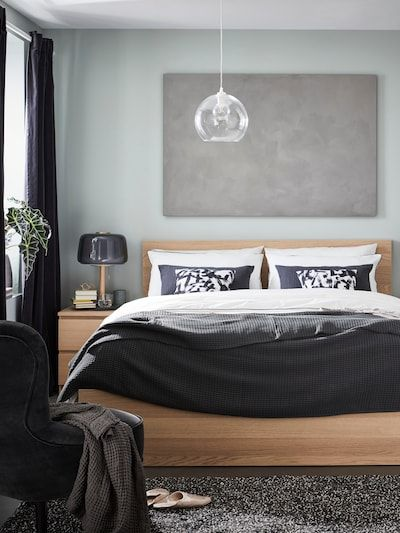 Malm Bed Frame High White Stained Oak Veneer Queen Ikea Malm Bed Frame Malm Bed Bed Frame