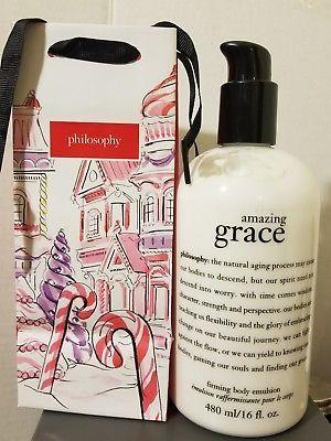 New Pump Philosophy Amazing Grace Firming Body Emulsion Lotion 16 Oz Philosophy Amazing Grace Amazing Grace Body