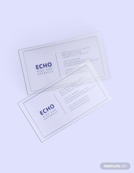 Minimal Transparent Business Card Template Word Psd Apple Pages Illustrator Publisher Transparent Business Cards Business Card Template Word Business Card Template