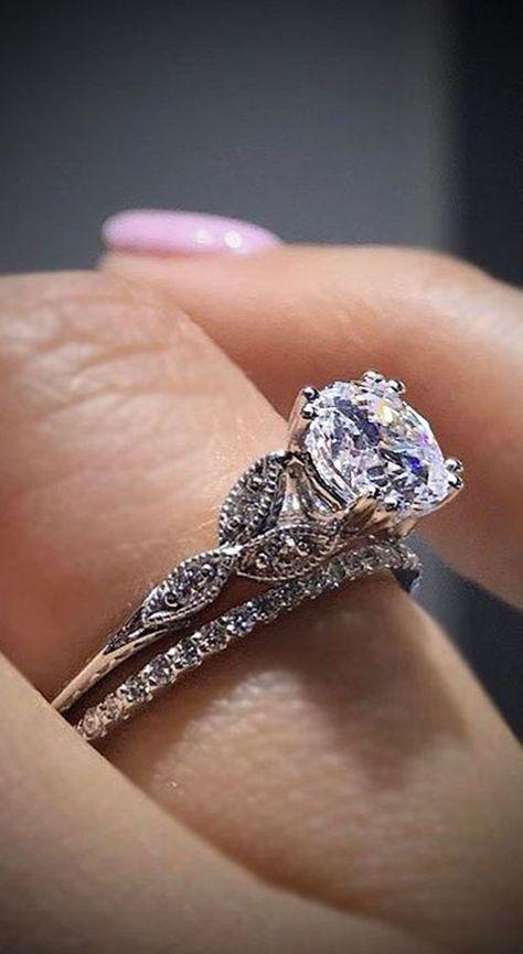 Simple Engagement Wedding Promise Rings Diamond Unique Fashion