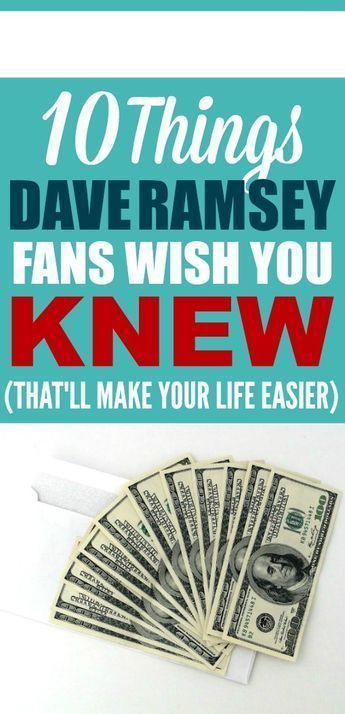 These Personal Finance Tips Are The Best I Love Dave Ramsey I M