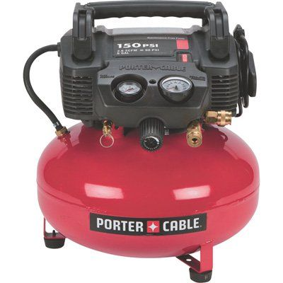Porter Cable Portable Electric Pancake Air Compressor Kit 0 8 Hp 6 Gallon 2 6 Cfm Model C2002 Wk In 2020 Pancake Air Compressor Air Compressor Best Portable Air Compressor