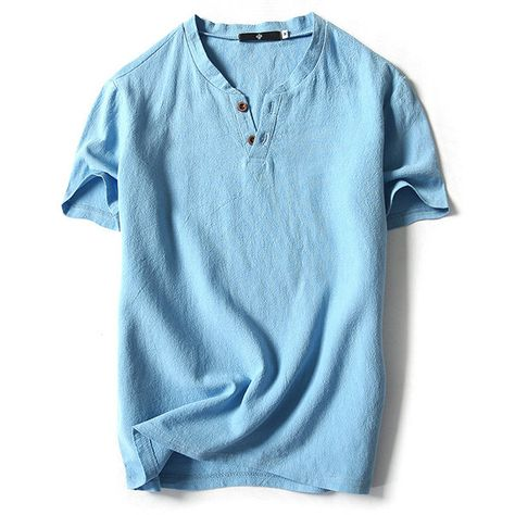 Mens Long Sleeve Cotton Blouse Loose Bottons Chinese Style Casual  Tops T Shirts