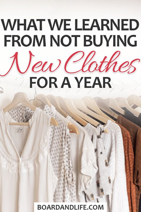 """We stopped buying new clothes for a year. These are some of the most important things we have learned from our accidental """"no new clothes"""" challenge! #fashion #clothes"""
