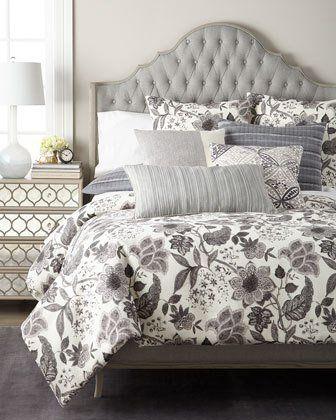 Callisto Home Veneto Printed Pickstitch Standard Sham And Matching Items Luxury Bedding Luxury Bedding Sets Designer Bedding Sets