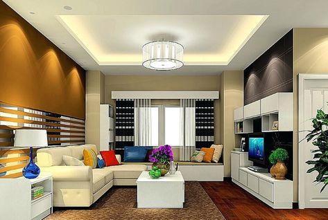 dekorasi plafon ruang tamu minimalis