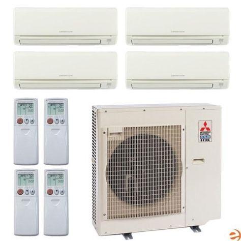 Mxz 4b36na 1 2 Msz Ge06na 8 Msz Ge09na 8 Msz Ge18na 8 Quad Zon By Mitsubishi 4477 95 Mitsubishi Mxz 4b36na 1 Split System Heat Pump Home Goods Decor