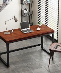 Tribesigns 55 Rustic Computer Desk Vintage Industrial Style Home