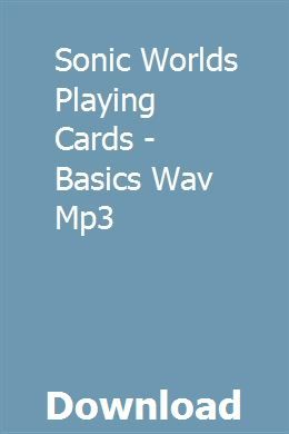 Sonic Worlds Playing Cards - Basics Wav Mp3 download online full