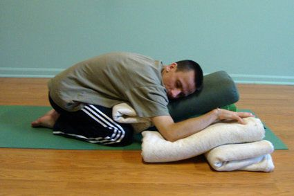 Yoga adapted for cerebral palsy, for relaxation and stretching.