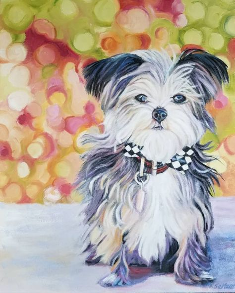 Custom Pet Portrait Of Top Dog The Top Fundraiser S Dog Of Indy