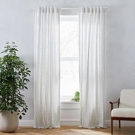 Echo Print Curtains Set Of 2 Platinum In 2020 Curtains