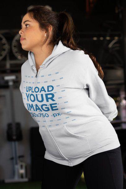 Download Placeit Plus Size Full Zip Hoodie Mockup Of A Woman Stretching Hoodie Mockup Full Zip Hoodie Zip Hoodie Design