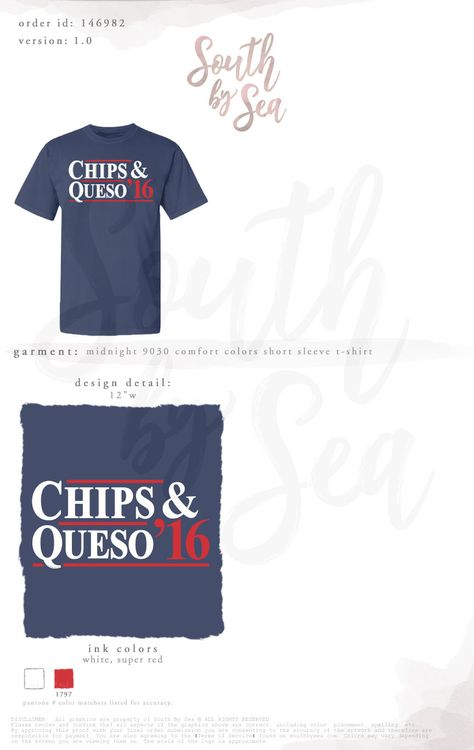 2365d0af3 Chips and Queso | Campaign Shirt | Design Inspiration | South by Sea |  Greek Tee