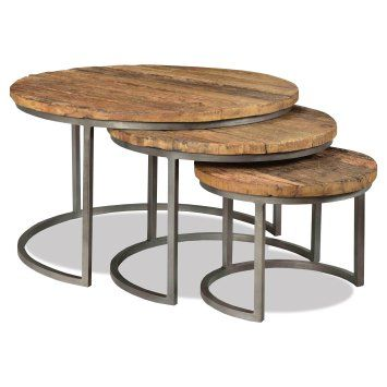 Riverside Furniture Tania 3 Piece Nesting Coffee Tables Nesting