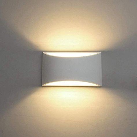 Wandleuchte chrom Designer Leuchte LED Modern Warmweiß