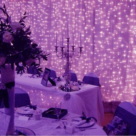 300 Led Icicle String Curtain Lights for Indoor - Purple - Medium (Multi-color), Multicolor