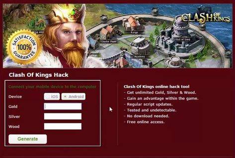 New Update] Clash Of Kings Hack No Survey No Password Clash