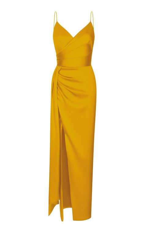 Satin Gown, Satin Dresses, Elegant Dresses, Pretty Dresses, Beautiful Dresses, Draped Dress, Silk Dress, Dress Skirt, Dress Up