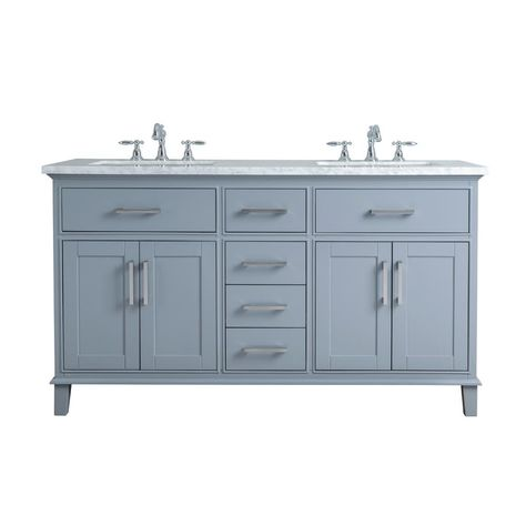 Double Sink Bathroom Vanity In Grey