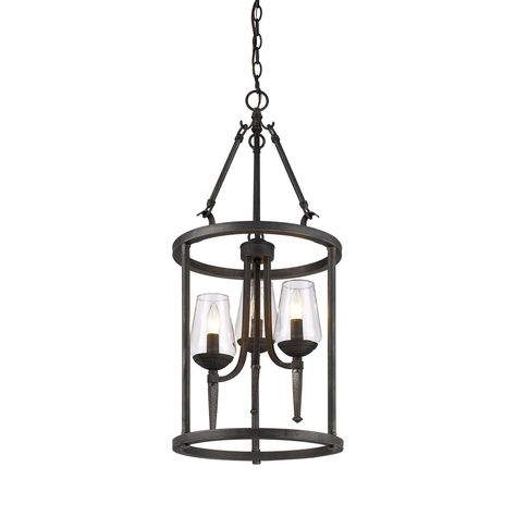 Copper Grove Roscommon Antique Copper Lantern Chandelier