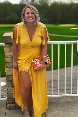 a09005ac030 Lovely Golden Yellow Dress - Wrap Dress - Maxi Dress