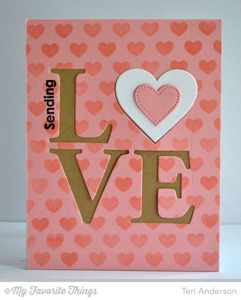 Smitten with You, Tiny Hearts Background, Love Centerpieces Die-namics, Pierced Heart STAX Die-namics - Teri Anderson #mftstamps