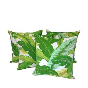 Set of 4 Palm Print Outdoor Pillows