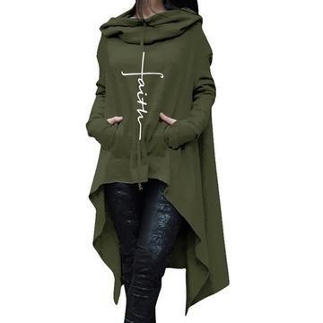 Women's Faith Sweater Full Length Hooded Pullover
