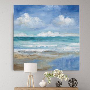 Canvas On Demand Seashore By Silvia Vassileva Painting Print On Canvas Wayfair Sea Wall Art Canvas Art Wall Decor Stretched Canvas Wall Art