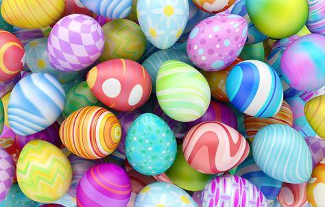 Фото обои Пасха, spring, eggs, Happy Easter, Easter eggs ...
