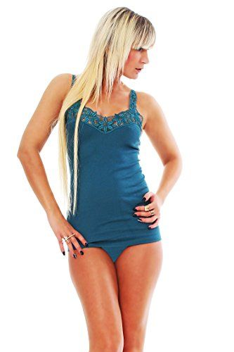d5415108a8b0dd Damen Achsel-Top mit Muschelspitze und elastischen Trägern Unterhemd ...