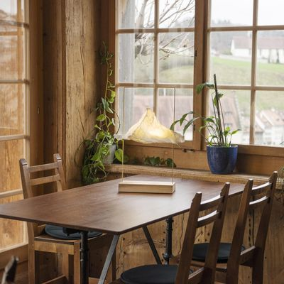 Matterlight Table Lamp In Silver Walnut By Boris Dennler Table