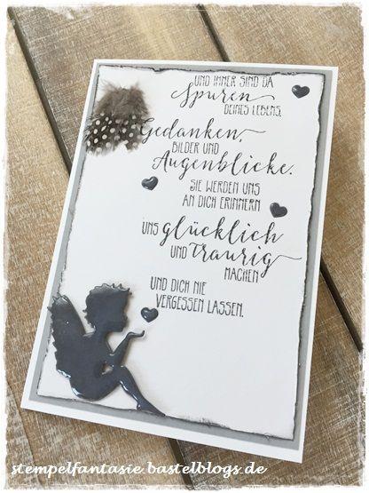 Trauerkarte ... Und Wieder Einer Von Meinen Lieblingsengeln. Selbst Für  Eine Trauerkarte Ist Er Bestens Geeignet. Den Tex... | Pinterest | Amu2026