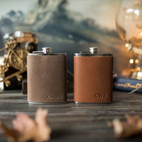 Personalized Gifts, Personalized Dog Collars, Good Find, Amazing Shopping, Leather Dog Collars, Inspirational Gifts, Leather Accessories, Flask, Monogram Styles