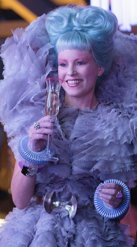 Elizabeth Banks as Effie Trinket in 'The Hunger Games: Catching Fire' (2013). Costume Designer: Trish Summerville