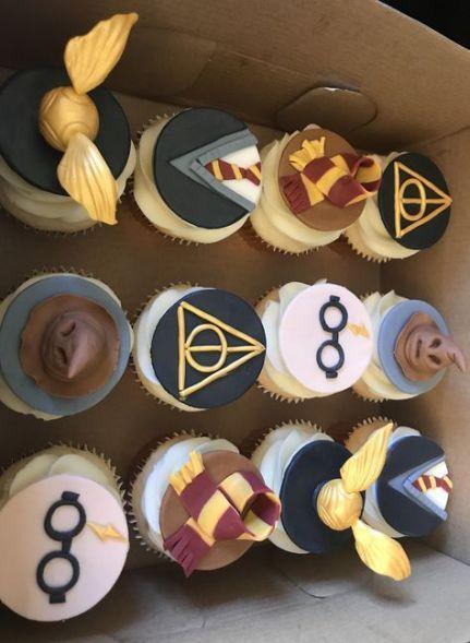 Trendy Birthday Cupcakes Decoration Harry Potter Ideas Harry Potter Birthday Cake Harry Potter Cupcakes Harry Potter Snacks