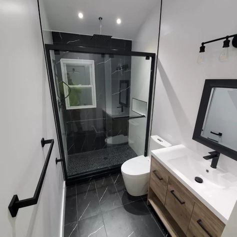 Guest Bathroom Remodel, Small Bathroom Renovations, Upstairs Bathrooms, Dream Bathrooms, Bathroom Remodeling, Home Remodeling, Basement Bathroom Ideas, Large Bathroom Sink, Tiny House Bathroom