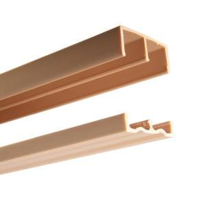 2419 Series 72 In Tan Plastic Door Track Assembly P2419 Tan 72 The Home Depot Sliding Wood Doors Diy Sliding Door Sliding Door Track
