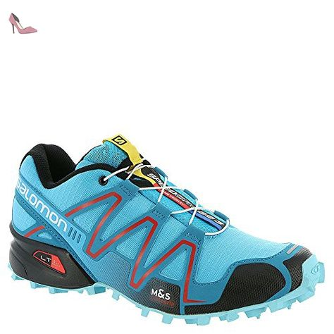 Salomon Speedcross 3 Women Trail Laufschuhe Azurin Blue Fog Blue Radiant Red 43 1 3 Chaussures Salomon Partner Link Chaussure De Trail
