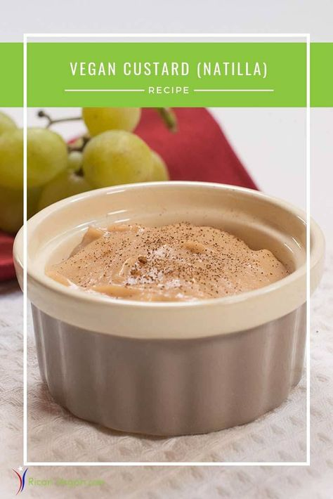 Non Dairy Vegan Custard Natilla Recipe Sweets For The